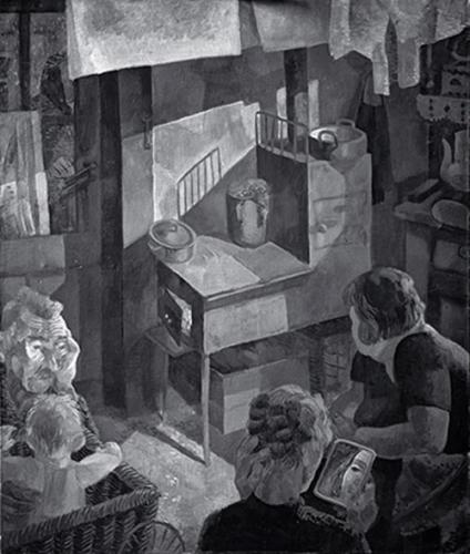 Duray Tibor: Tűzhely körül (Valaki kopog; Konyhán)