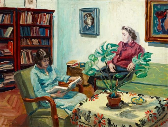 Duray Tibor: Pihenő család (Szieszta, Adrienn és Eszter)