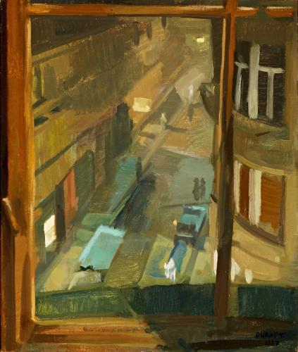 Duray Tibor: Műterem ablakból