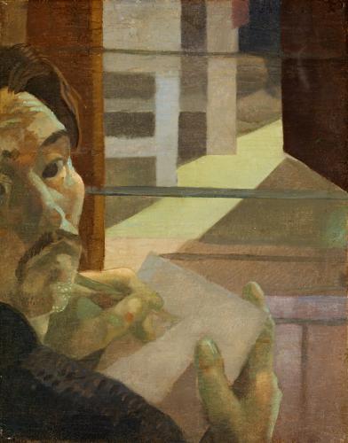 Duray Tibor: Önarckép ablak előtt