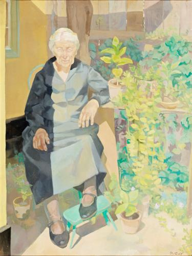 Duray Tibor: Kertben ülő néni