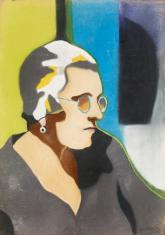 Duray Tibor: Idős nő szemüvegben (Mama)