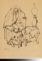Duray Tibor: Nő petróleumlámpával